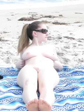 Crazy Couple At Nude Beach Under the Sun