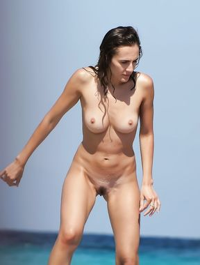 girl Russian nudist flashes the cameraman