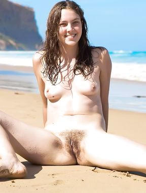 Big breasted girl girl enjoy her nudist time all that day!