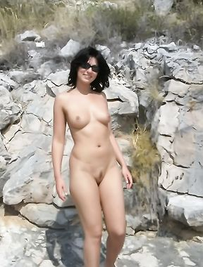 Gorgeous Russian nudist knows how to have some fun