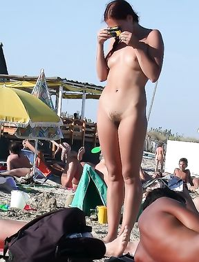 just a day at the nude beach  kerry just loves the feel of the sun on her body