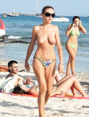 Topless Amateur: Grandma At Sea