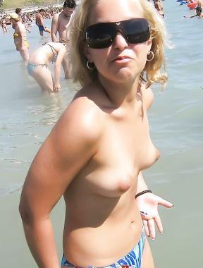 Topless Amateur: Stefi Outdoor!