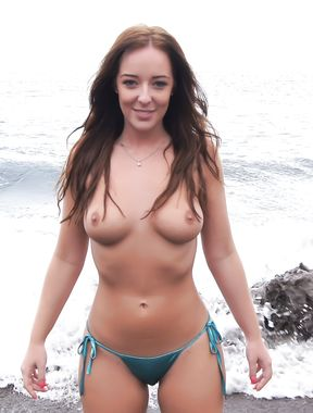 Topless Girlfriend: At The Beach