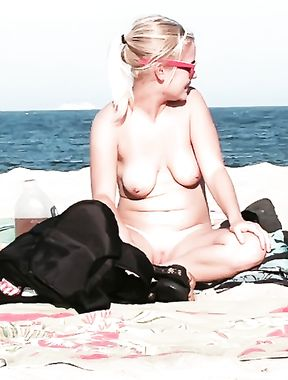 Blonde On The Beach In NJ